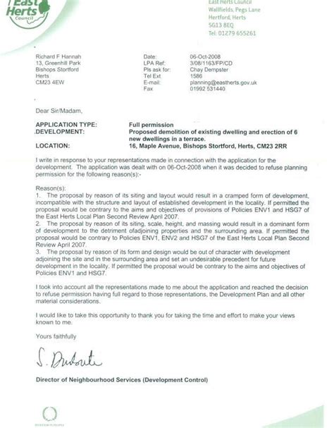 Letter Of Support For Council Housing Bscf Bscf S Objections To Planning Application For 16 Maple Avenue