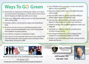 ways to go green at home ways to go green postcard at home in carlsbad