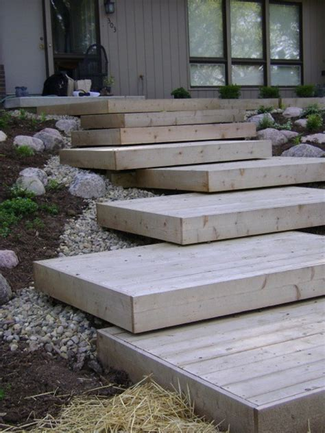 the 25 best ideas about outside steps on pinterest koi deck steps contemporary landscape chicago by dew