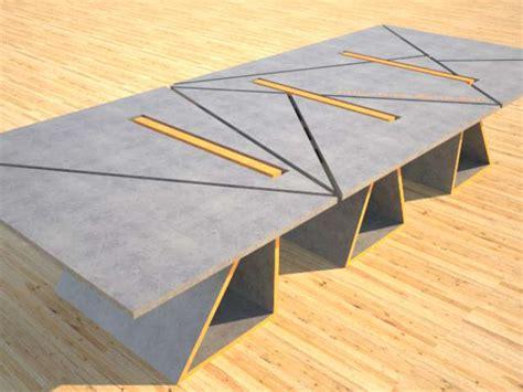 Concrete Conference Table Concrete Conference Table Modular Design Geometric Series