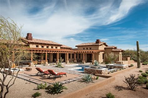 sefcovic residence is a luxurious desert style house luxury rustic family desert house in arizona founterior