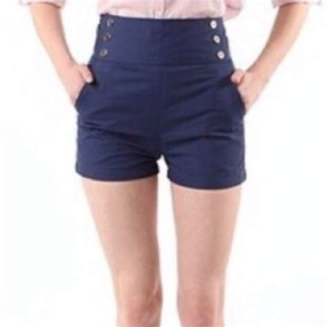 Highwaist Scratch Navy outfitters lucca couture navy blue high waisted sailor shorts from s closet on