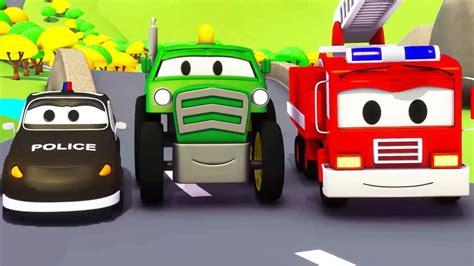 Pemadam Kebakaran Stop Mobil mobil patroli truk pemadam kebakaran dan mobil polisi dan