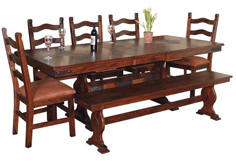trestle table dining set and trestle dining table