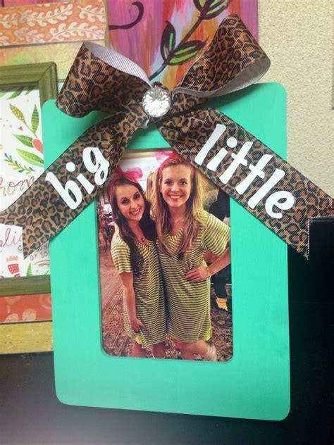 sorority big  sister gift picture frame mint blue