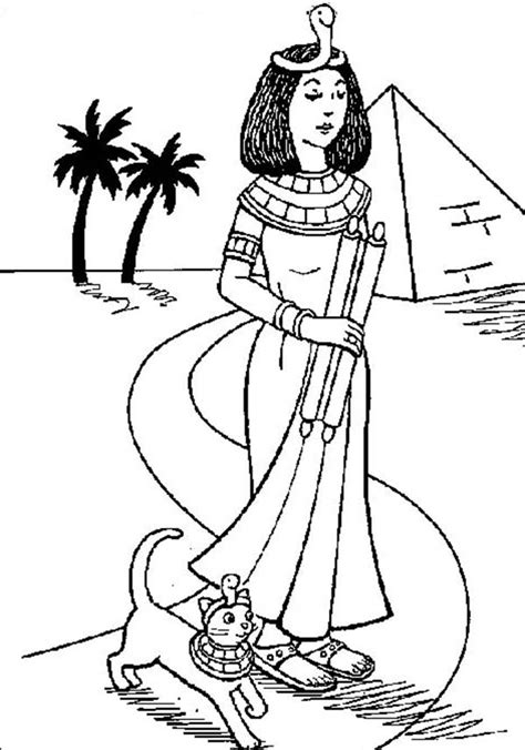 Galerry fall cat coloring page