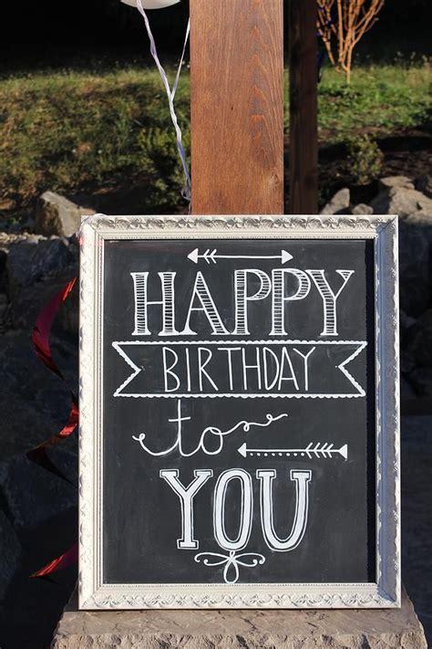 chalkboard diy fonts 1000 ideas about happy birthday font on