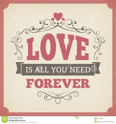 libro amor love vintage de la boda del amor dise 241 o del fondo de la tarjeta del vintage de la tipograf 237 a para siempre