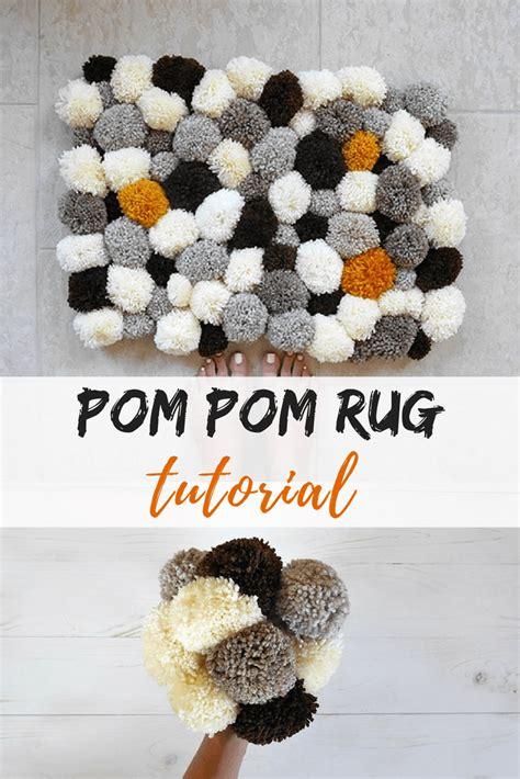 how to make pom pom rug how to make a bathroom pom pom rug mallooknits