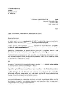 Exemple De Lettre Pour Un Juge exemple de lettre pour un juge des affaires familiales