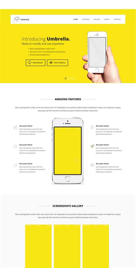 bootstrap templates for mobile app free 30 bootstrap website templates free download