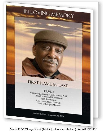 funeral booklet template images
