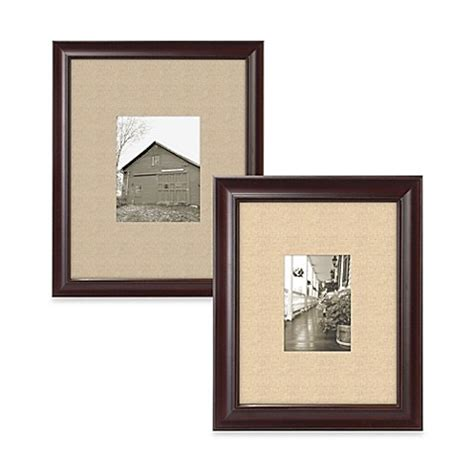 bed bath and beyond picture frames malden 174 barnside matted picture frame in espresso bed