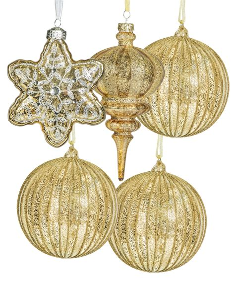 gold tree ornaments gold and silver glass ornament set tree classics