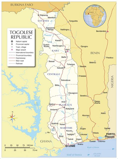 togo on a map togo map map of togo togo map in