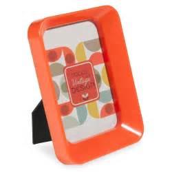 cornice fotografica cornice fotografica arancio in plastica 9x14 cm jeannette