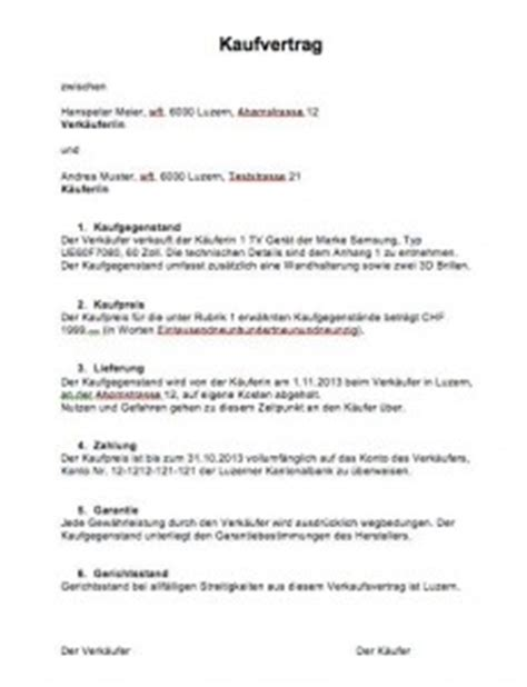 Schriftliches Angebot Hauskauf Muster Kaufvertrag Vorlage Schweiz Muster Und Vorlagen Kostenlos