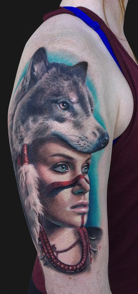wolf headdress tattoo batman by tattoonow