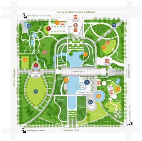 Botanical Gardens Map Map Myriad Botanical Gardens