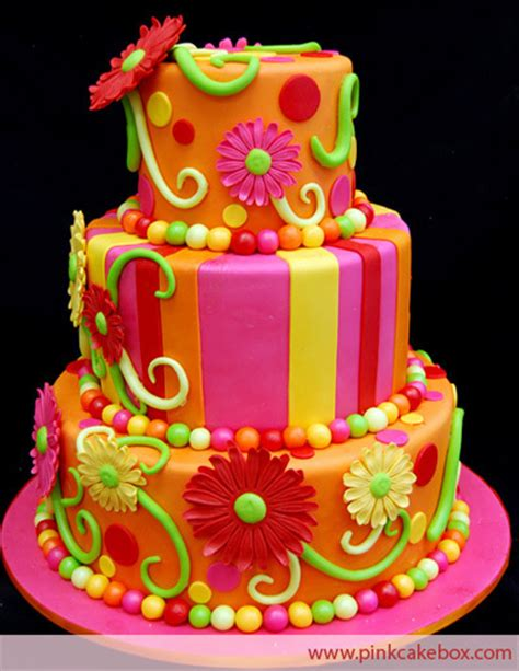 cake colors brightly colored cake bright colors photo 18123278