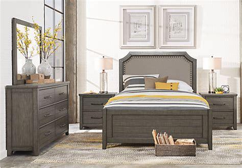 bedroom furniture browns plains urban plains gray 7 pc king reversible bedroom bedroom