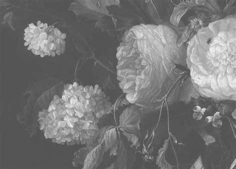 bloemen behang kinderkamer behang op maat zwart wit bloemen wp 346 behangopmaat