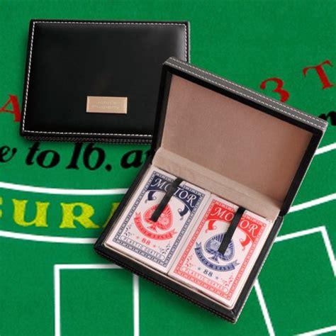 Personalized Gifts Playing Cards - personalized leather playing card case