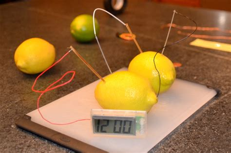 lemon battery experiment  kids