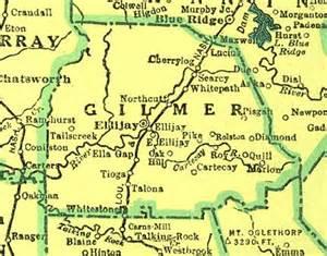 map of gilmer county of gilmer georgiainfo