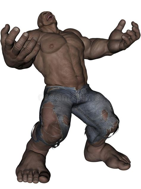 monster man stock illustration illustration  muscular
