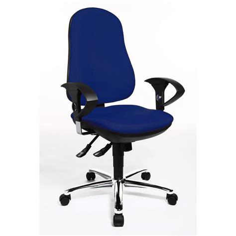 exercise office chair with armrests topstar support sy mesh operator chair 103 113 cm height