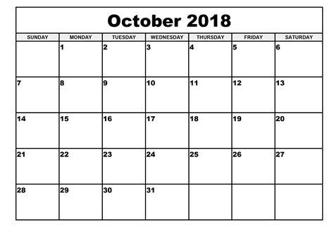 printable calendar october 2018 calendar 2018 printable october larissanaestrada com