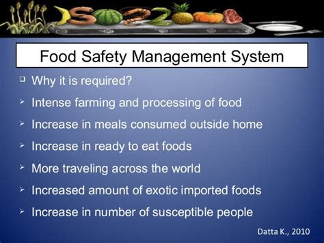 Mba In Food Safety And Quality Management In India by Iso 22000 Food Safety Management System
