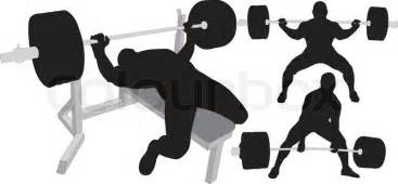 Bench Press With Dumbells Powerlifting Weightlifting Or Bodybuilding Vector