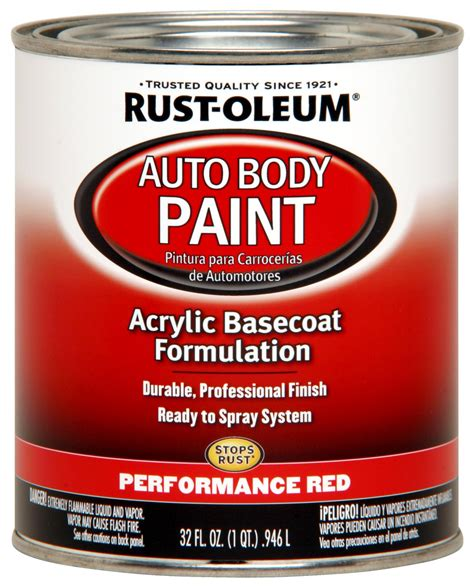 rust oleum 253502 paint acrylic base coat gloss performance 1 qt each ebay