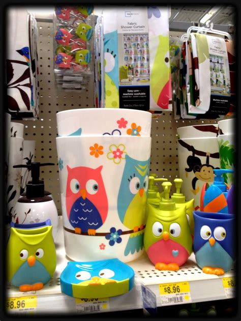 kids owl bathroom decor walmart owl set for the bathroom owls pinterest