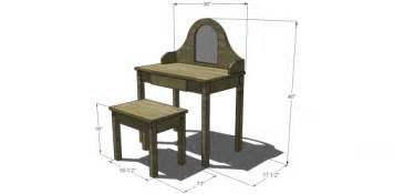 Vanity Table Dimension Free Woodworking Plans Dressing Table Woodproject