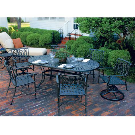 Windham American Gothic Cast Aluminum Patio Dining Set Outdoor Furniture Usa