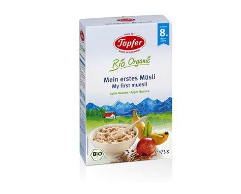 Topfer My Muesli Cereal babynahrung und babypflege aus der natur t 246 pfer babywelt