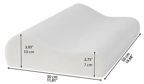 Uk Pillow Size by Memory Foam Bed Pillow Cooling Gel Orthopedic Cushion