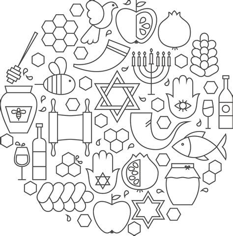 coloring pages for rosh hashanah rosh hashanah coloring page customandcraft org