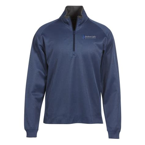 One Click Pattern Unlock Zip | 4imprint com vertical pattern 1 2 zip pullover men s