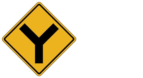 The 7 Most Confusing Traffic Signs in Pennsylvania Y Intersection Sign