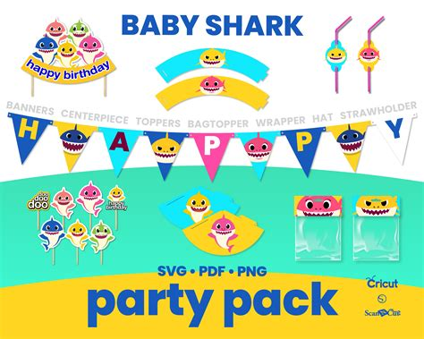 baby shark party theme svg png   sweetdigital