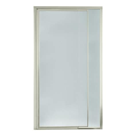 Pebbled Glass Shower Door Sterling Vista Pivot Ii 36 In X 69 In Framed Pivot Shower Door In Nickel With Pebbled Glass