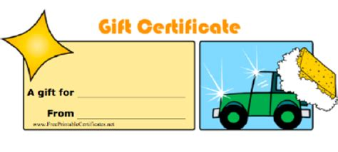 automotive gift certificate template auto detailing website templates free free