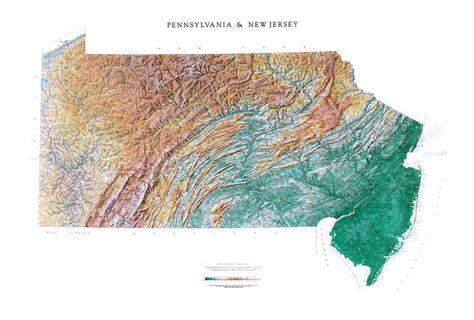 pennsylvania physical map pennsylvania wall map a spectacular physical map of