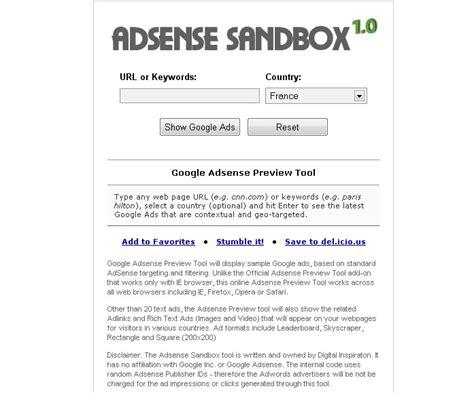 adsense sandbox le vrac du web 6 autour du web