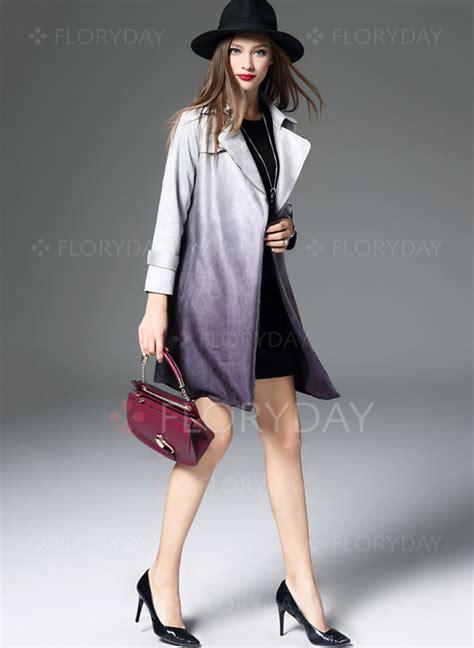 Benang Rajut Polyester United Pink polyester sleeve lapel coats floryday