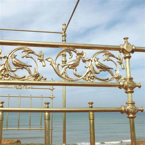 four post bed song all brass wide four poster bed with song bird castings m4p21 for sale at 1stdibs